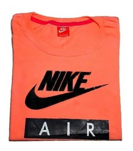 Remera Nike Air Salmon Talle L Importada