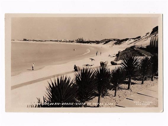 Cartao Postal Fotografico Cabo Frio Vista Hotel Lido Anos 50