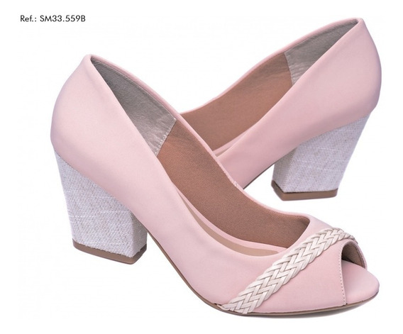 Sapato Scarpin Peep Toe