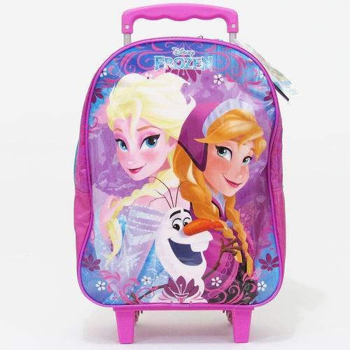 Mochila De Rodinhas Menina Disney Frozen Dermiwil Rosa 30304