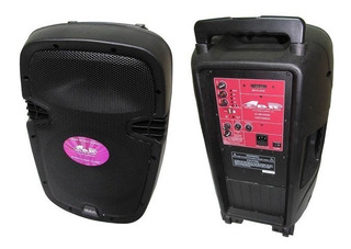 Bafle Gbr Pl 600 Party Recargable 1000w Pmpo 2 Mic Bluetooth