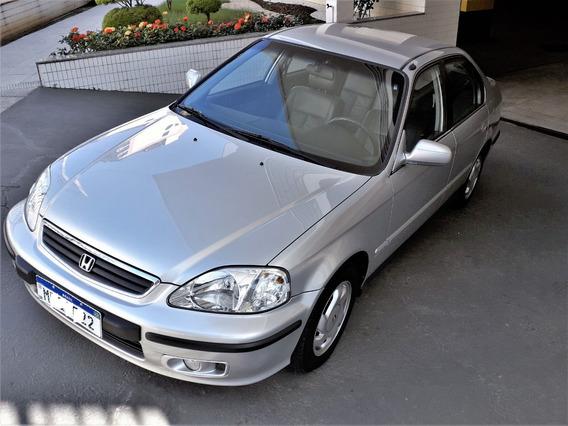 Honda Civic Lx 2000 A/t, Baixo Km, Original Sem Retoques