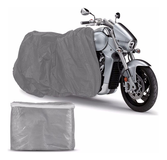 Capa Cobrir Moto Carrhel Impermeável Anti Uv Prata