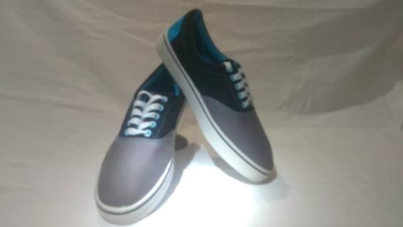 Zapatos Deportivos Azul Con Gris Y Negro Al Mejor Precio 6$