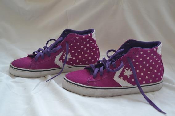 Zapatillas Converse - Purpura Y Blanco - Como Nuevas