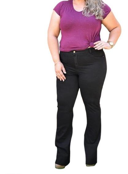 Calça Jeans Feminina Plus Size P Gordinhas C/ Lycra 46 Ao 54
