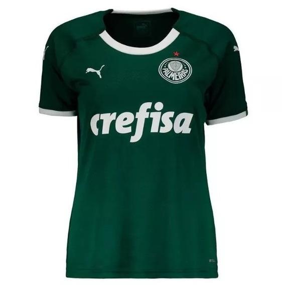 Nova Camisa Feminina Palmeiras Baby Look 2019 Envio 24 Hrs