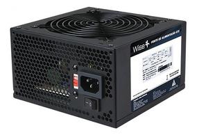 Fonte Wisecase Atx Wscw-500w-1x12 Cooler 122 Sata Com Cabo