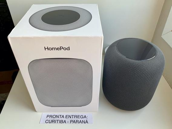 Homepod (caixa De Som Apple) Cinza Espacial. Completo. 12x