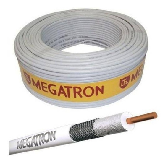 300 M Cabo Megatron 100mts Rg 59, Malha 47% Tv,parabolicas
