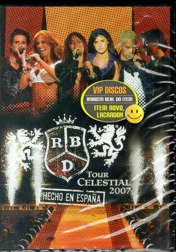Dvd Rbd Tour Celestial 2007 Hecho En Espanha Duplo Importado