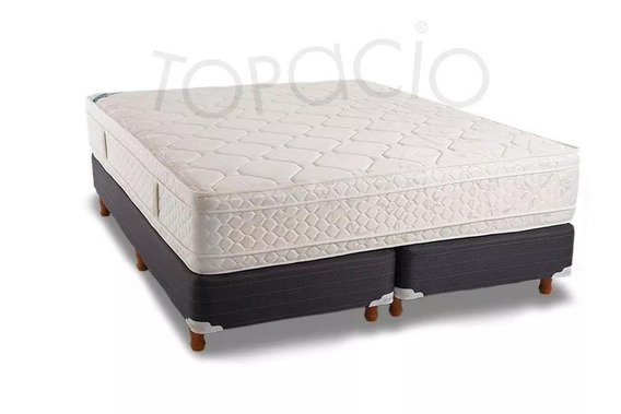 Colchon Y Somier Topacio Simetric 160x200 Pillow Promo Cuota
