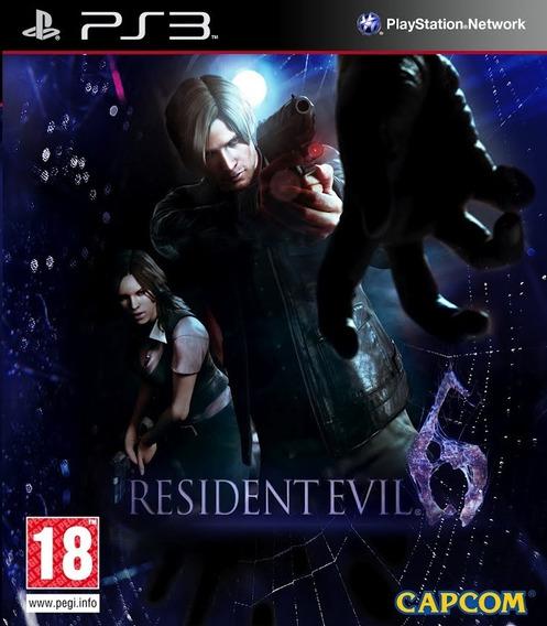 Jogo Resident Evil 6 Playstation 3 Mídia Física
