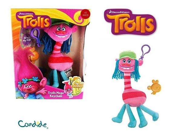 Trolls Mega Chaveiro Pelúcia Cooper - Candide