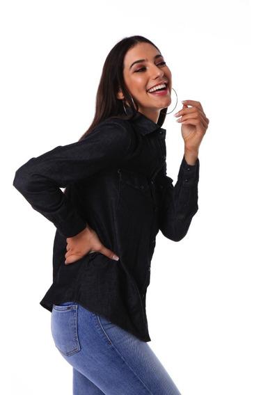 Camisa Manga Larga Basica Jean | Vov Jeans (012151)