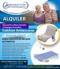 Alquiler Colchon Antiescaras