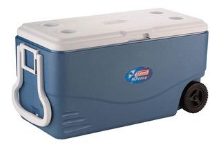 Caixa Térmica Xtreme C/ Rodas 100 Qt 95 Litros Azul Coleman