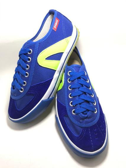 Tenis Rainha Vl2500 Futsal Vôlei Futebol Azul Verde.