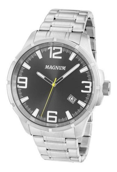 Relógio Magnum Masculino Analógico Prata Ma34781t