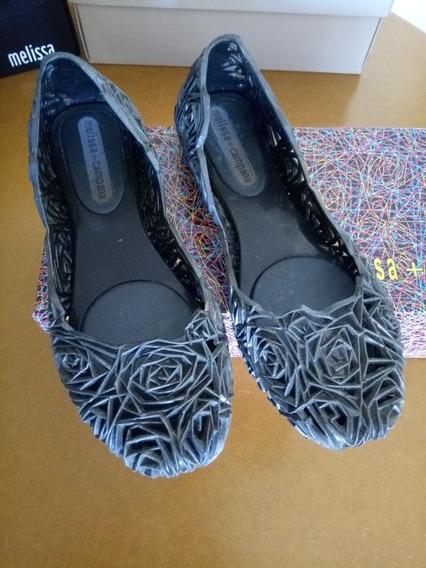 Melissa Campana Fita Cinza Grafite,escuro,sapatilha T35