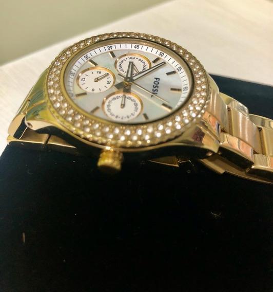 Relógio Fóssil Feminino - Dourado - Usado