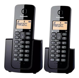 Teléfono Inalámbrico Panasonic Kx-tgb112agb Doble Duo Negro