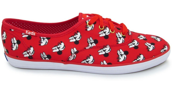 Tenis Keds Wf56305 Ch Miniie Mouse Red Rojo