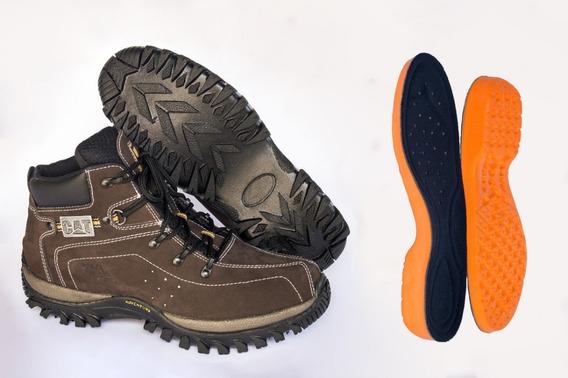 Bota Trilha Coturno Couro Sapato Adventure Escalada Palm Gel