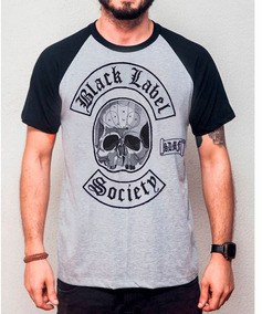 9865085672 Camiseta Black Label Society - Camisetas Prateado Curta com o ...