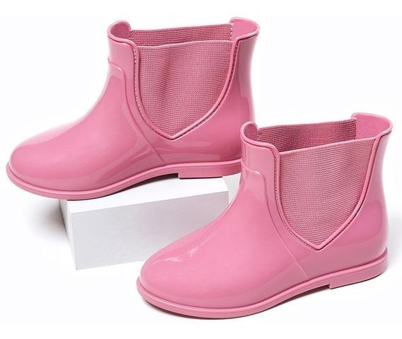 Bota Galocha Infantil Menina Pimpolho Colore Rosa 21 Ao 26