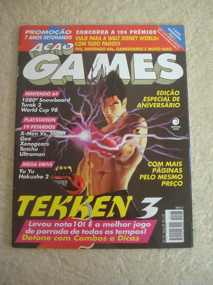 Revista Ação Games 127 Tekken 3 Xmen Street Turok 2 F806
