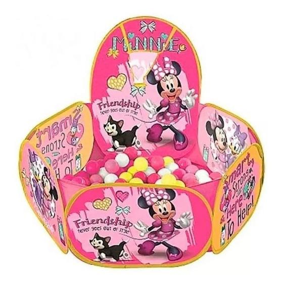 Piscina Bolinhas Da Minnie + 100 Bolinhas Resistente Disney