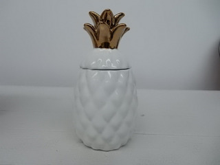 Piña Minimalista De Porcelana Decoración