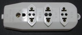 Tomada Em Barra Tripla 10a E 20a Plug P/ Extensão Kit 10 Pçs