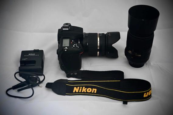 Câmera Nikon D7100 + Lente Tamron + Lente Nikkor