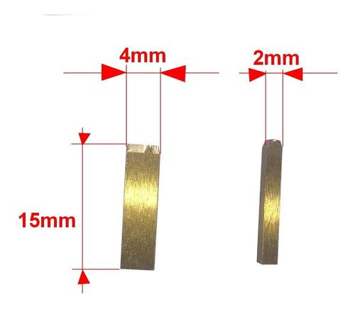 Imagen 1 de 5 de Cuños Letras  De Bronce  4 Mm Para Fechadores Hot-stamp