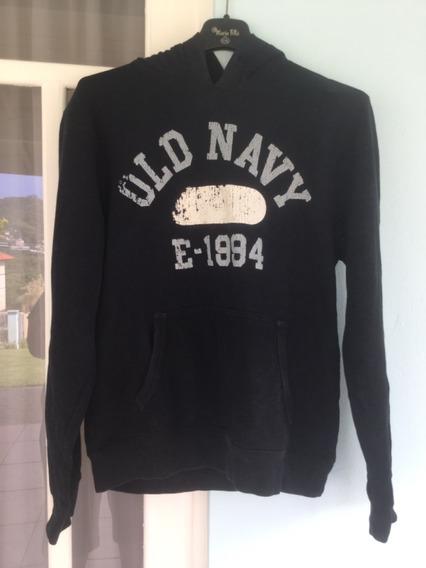 Moletom Old Navy Original Nyc Azul Marinho Capuz Tamanho P