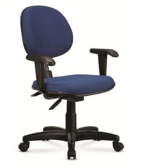 Cadeira De Escritório Giratória Preto E Azul - Cercatto