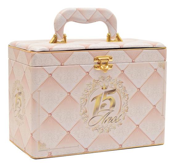Álbum Fotográfico Maleta Box Luxo 15 Anos P/ 240 Fotos 15x21
