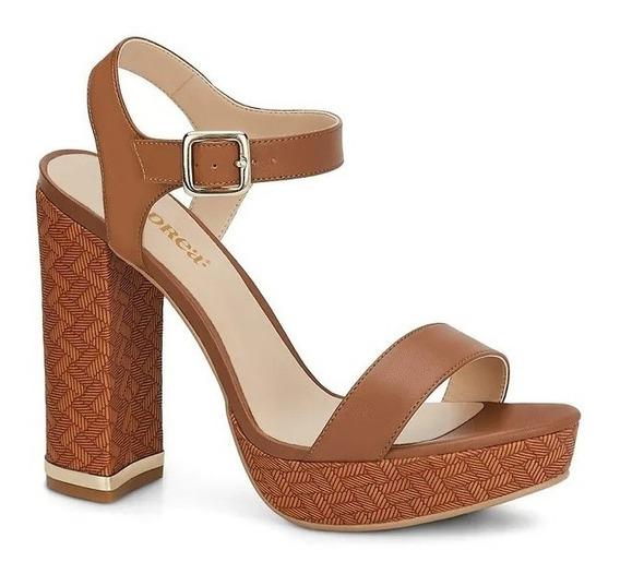 Sandalia Andrea Ankle Strap Mujer Café / Negro Mod. 2626963