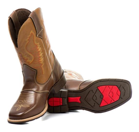 Bota Country Masculina Texana Bico Quadrado 4 Modelos Peão B