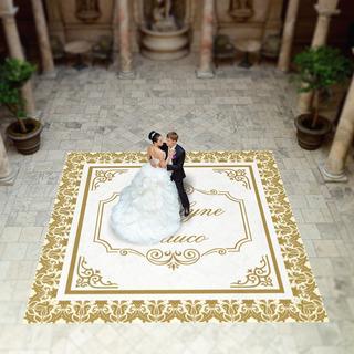 Pista De Dança Para Casamento Realeza Arabesco Ps02 - 5x5m