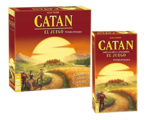 Imagen 1 de 7 de Colonos De Catan El Juego Original Devir Base + Ampliacion