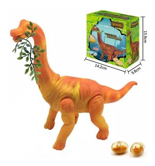 Dinossauro Anda Bota Ovo Som Luz Movimento Projetor Laranja