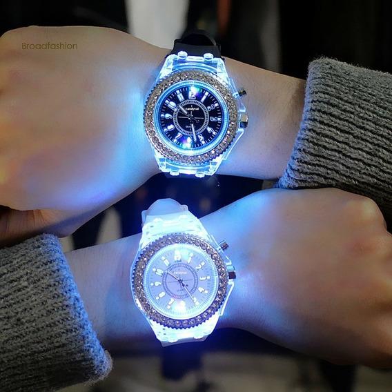 Relógio Masculino Analógico Com Iluminação Led