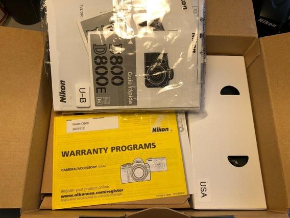 Nikon D800. Completa! Menos De 5 Mil Clicks