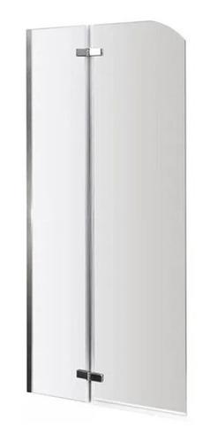 Mampara Rebatible + Paño Fijo  100 X 190. Vidrio Esmerilado