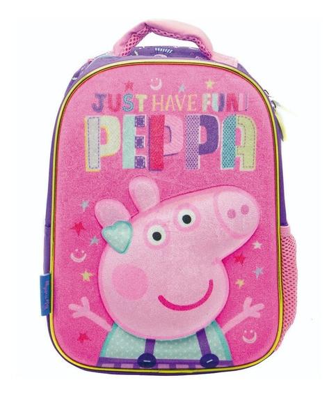 Mochila Peppa Pig 12 Pulgadas Termoformada 3d Jardin