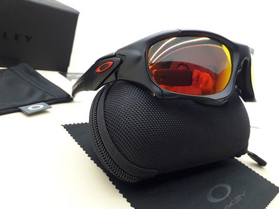 Óculos Oakley Pit Boss Ii Preto C/ Lente Rubi Polarizado