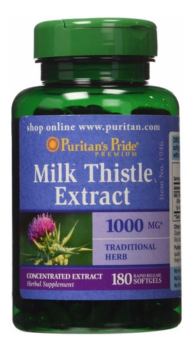 Milk Thistle 1000mg 180 Softgels Cardo Mariano Silimarina
